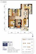 海口碧桂园3室2厅2卫102平方米户型图