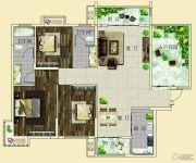 上海花园・新外滩3室2厅2卫126--130平方米户型图