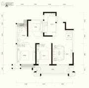 东正颐和府3室2厅1卫104平方米户型图