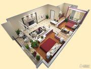 车城万达广场2室2厅1卫85平方米户型图