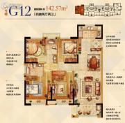 金科世界城4室2厅2卫142平方米户型图