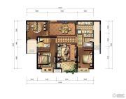 九方城3室2厅2卫127平方米户型图