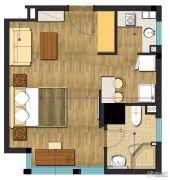 九洲新世界1室1厅1卫51平方米户型图