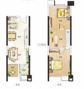 金水湾2室2厅1卫42平方米户型图