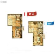 碧桂园银亿・大城印象1室1厅1卫46平方米户型图