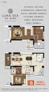 万科海上明月4室2厅2卫87平方米户型图