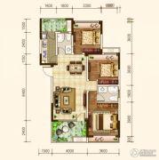 建联・香颂湾3室2厅2卫109平方米户型图