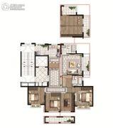 中国铁建青秀澜湾4室2厅2卫139平方米户型图