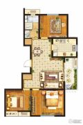 中垠紫金观邸3室2厅1卫103平方米户型图