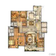 金新鼎邦5室2厅3卫290平方米户型图