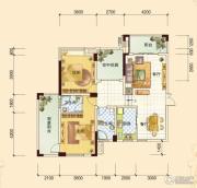 春风玫瑰园2室2厅2卫124平方米户型图