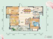 连山鼎府3室2厅1卫106平方米户型图