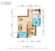 荣泰广场1室2厅1卫76平方米户型图