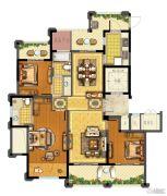 青林湾8期3室2厅2卫136平方米户型图