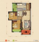 中海锦苑2室2厅1卫76平方米户型图