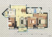 岭南新世界3室2厅2卫99平方米户型图