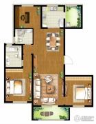 朗诗・新北绿郡3室2厅2卫135平方米户型图