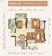 盛天熙府3室2厅2卫112平方米户型图