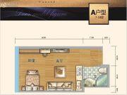 时代中心1室1厅1卫37平方米户型图