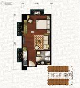 新天地都市广场1室1厅1卫52--56平方米户型图