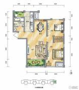 泾渭分明生态半岛2室2厅1卫86平方米户型图