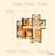 金鹰国际城3室2厅2卫138平方米户型图