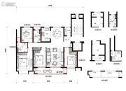 万科望庐花苑4室2厅2卫130平方米户型图