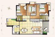 小榄・锦园3室2厅2卫111平方米户型图