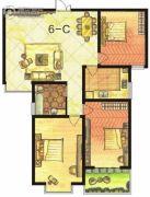 东方明珠3室2厅1卫124平方米户型图