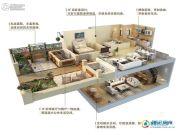 华贸公园郡2室2厅1卫86平方米户型图