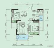 大洋五洲2室2厅2卫86平方米户型图