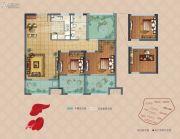 弘阳上湖3室2厅1卫88平方米户型图