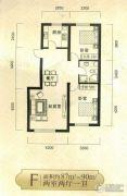 凤凰城2室2厅1卫87--90平方米户型图