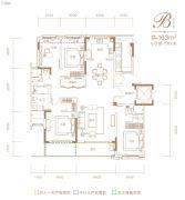 融创信达・政务壹号4室2厅2卫163平方米户型图