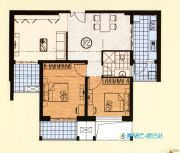 恒力・水木清华2室2厅1卫107平方米户型图