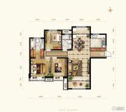 保利花园3室2厅2卫136--137平方米户型图