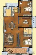 九洲花园缇香郡3室2厅2卫125平方米户型图