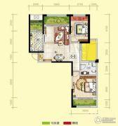 天居锦河丹堤2室2厅1卫90平方米户型图