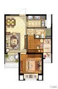 保利中央公园2室1厅1卫70平方米户型图