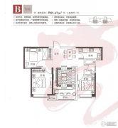 烟台莱山宝龙广场3室2厅1卫95平方米户型图