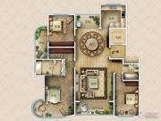 九英里颢苑3室2厅2卫211平方米户型图