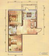 卓扬中华城2室1厅1卫77平方米户型图