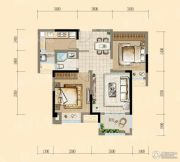 均瑶・御景天地2室2厅1卫78平方米户型图