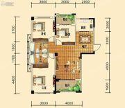 祥东金泰城3室2厅2卫111--113平方米户型图