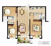 中建溪岸观邸3室2厅2卫125平方米户型图