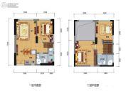 中正SOHO3室2厅2卫0平方米户型图