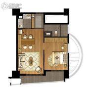 天虹品上中心2室1厅1卫65平方米户型图