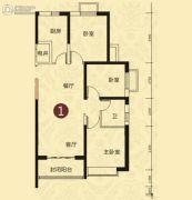 恒大山水城3室2厅1卫112平方米户型图