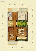 保利融信大国�Z1室2厅1卫205平方米户型图