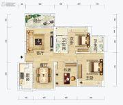 连城湾2室2厅2卫89平方米户型图